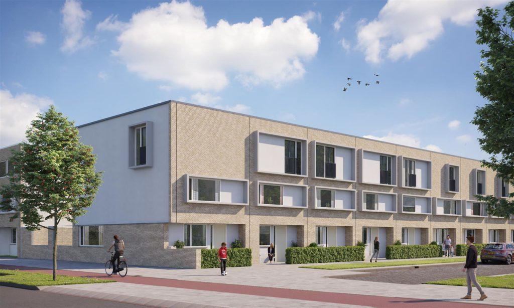nieuwbouw eengezinswoningen te Rotterdam vooraanzicht