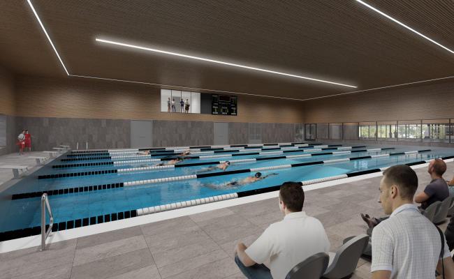 Impressie zwembad nieuwbouw De Pelikaan