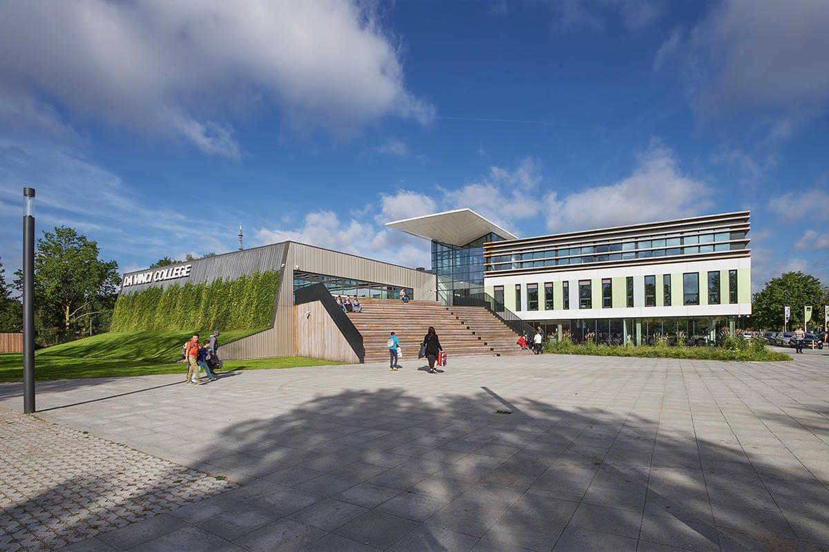 het nieuwe pand van het Da Vinci college in Roosendaal