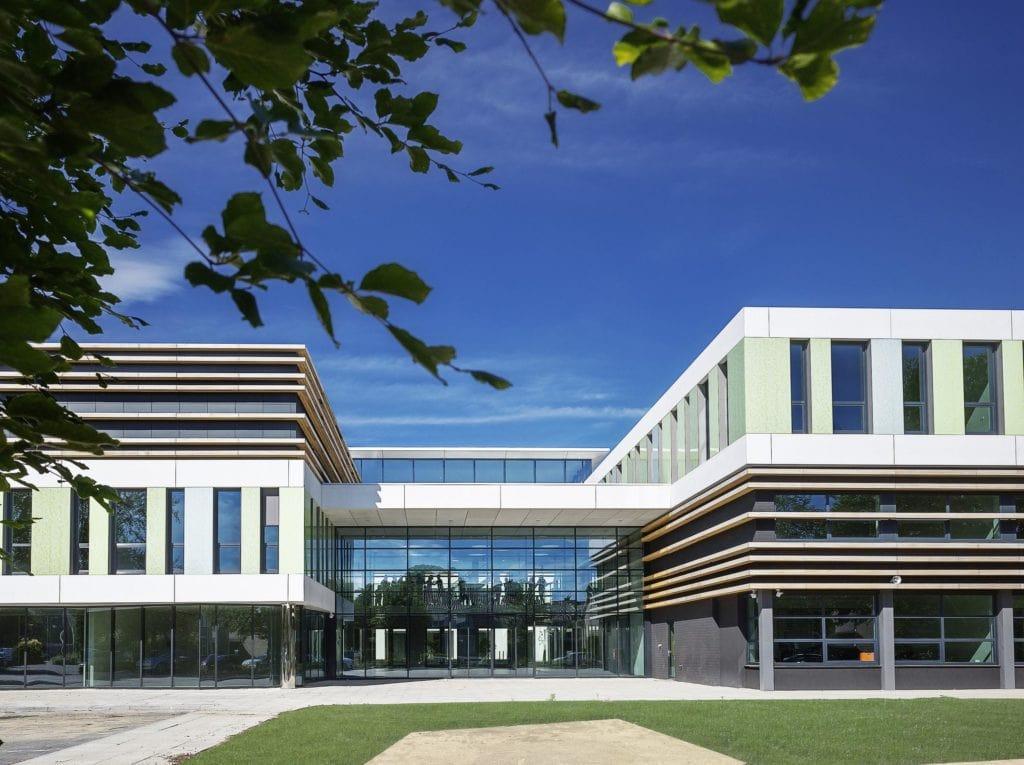 nieuwbouw Da Vinci college zij ingang Roosendaal