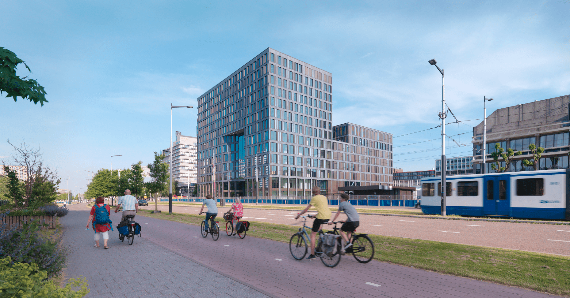 bouw van Het Nieuwe Universiteitsgebouw VU te Amsterdam