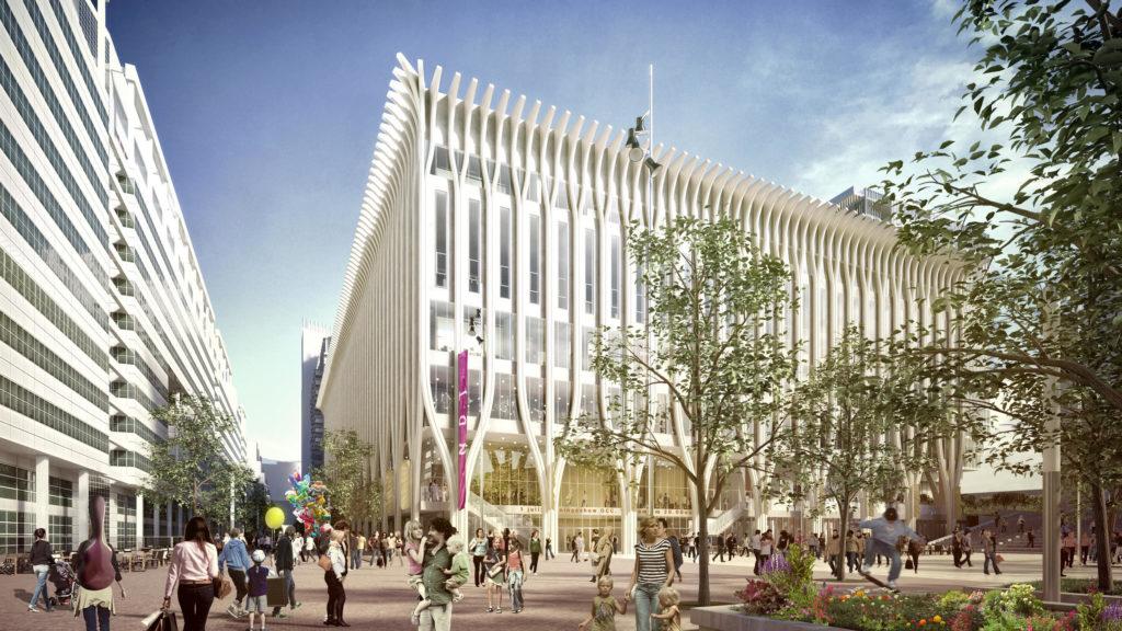 Impressie nieuwbouw onderwijs- en cultuurcomplex