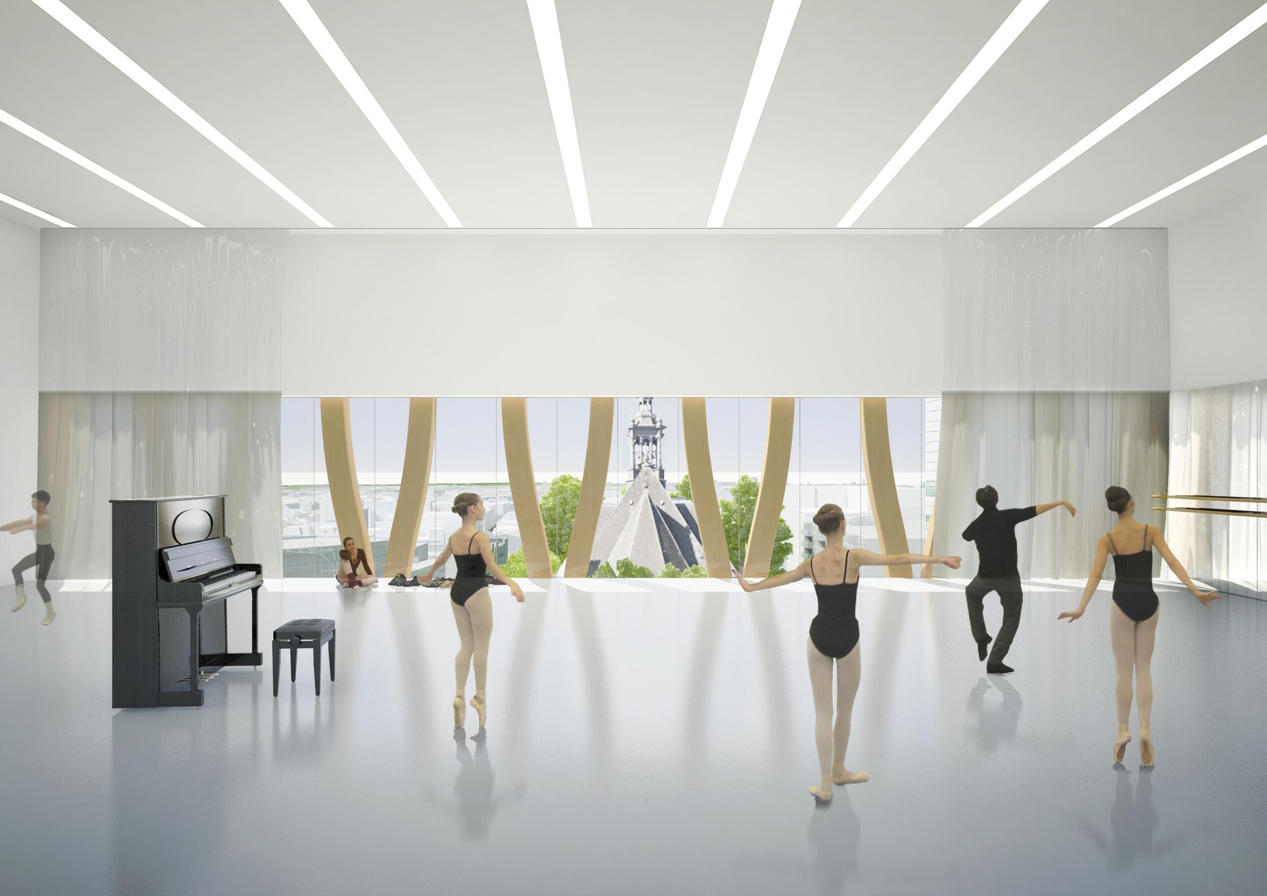 dansstudio onderwijs- en cultuurcomplex te Den Haag