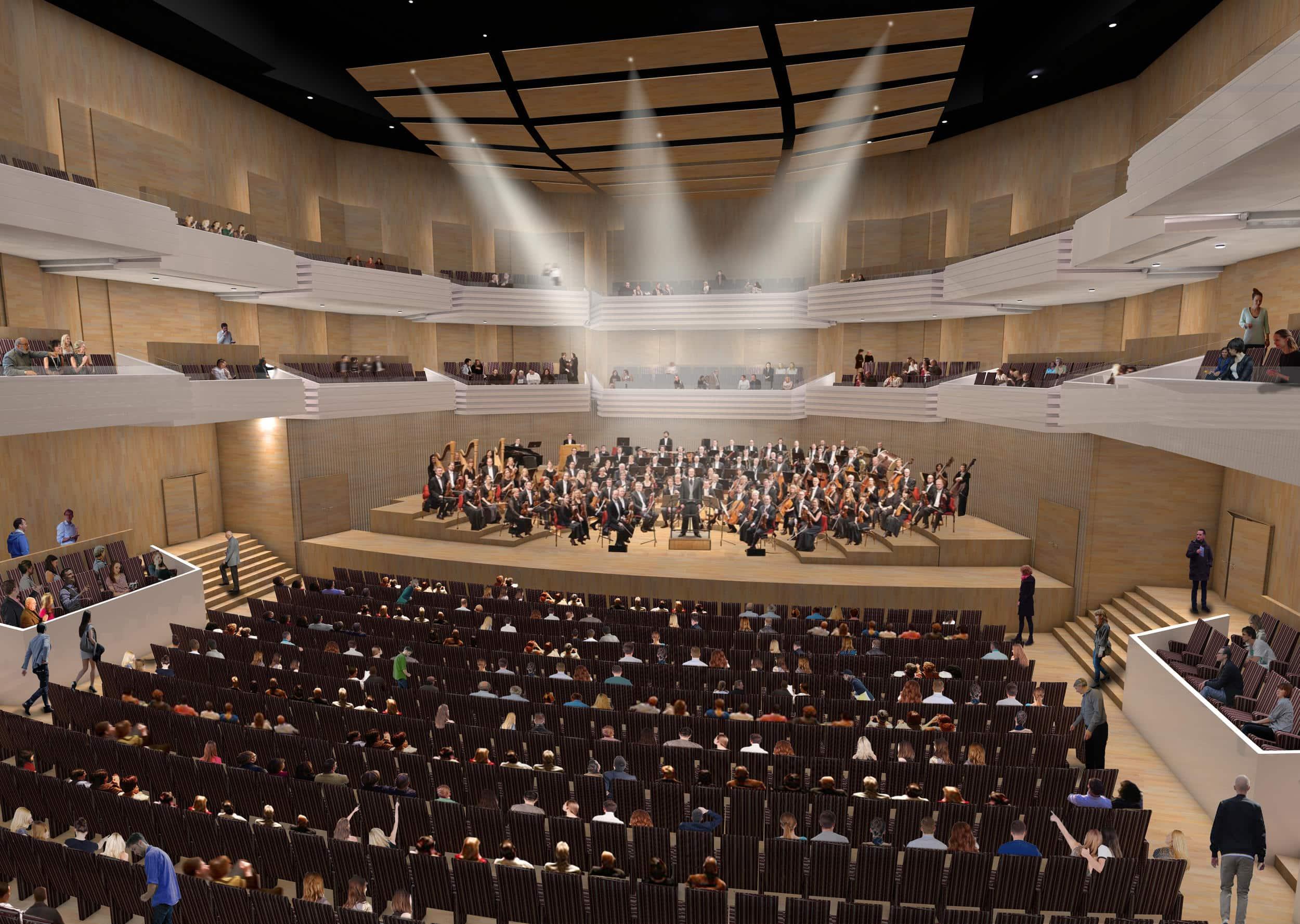 impressie concertzaal onderwijs- en cultuurcomplex