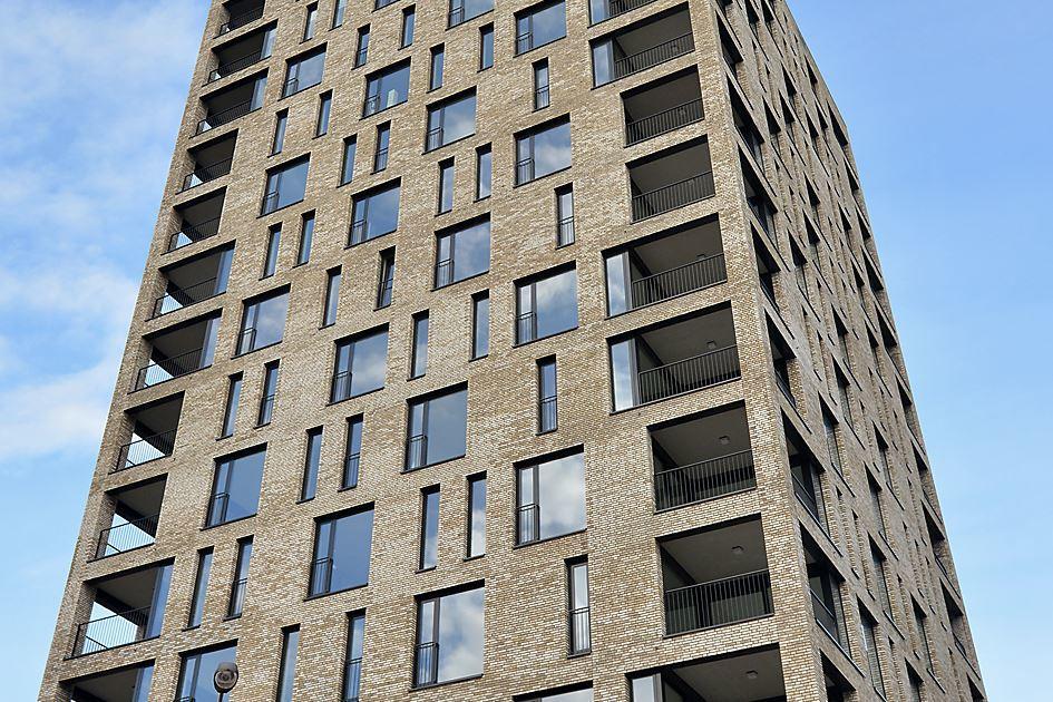 Nieuwbouw appartementen woontoren Teun aan de Dr. Struyckenplein te Breda