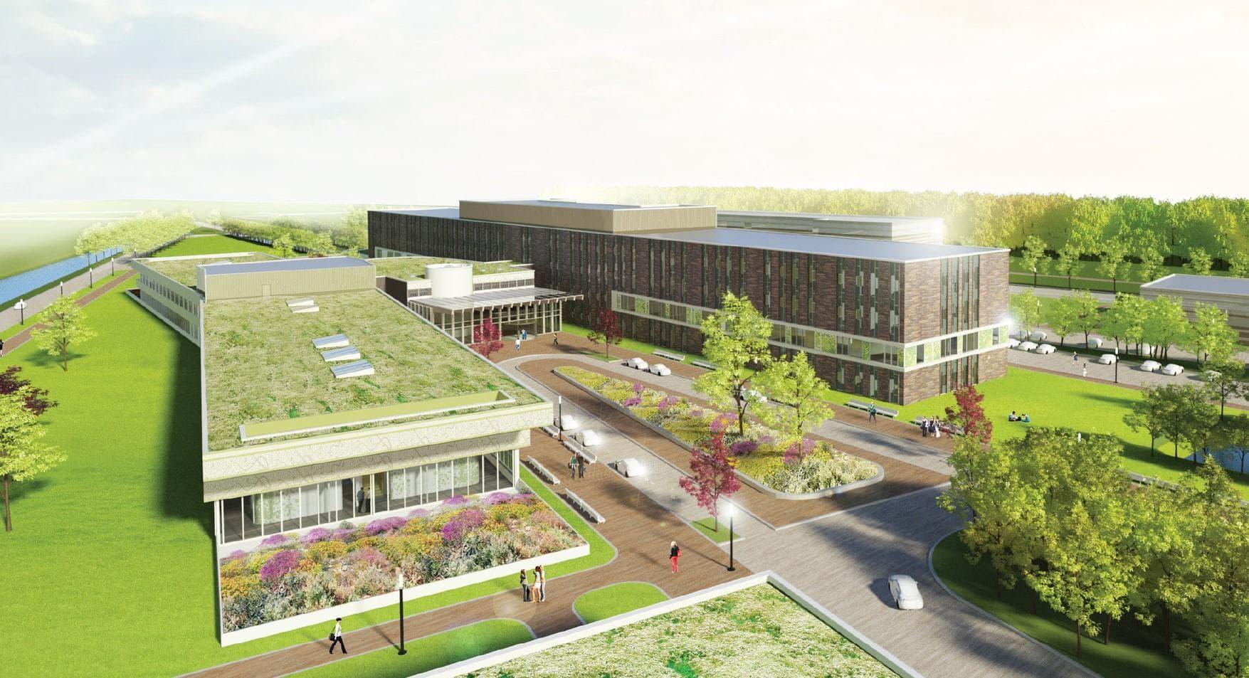 Impressie nieuwbouw OZG ziekenhuis Scheemda